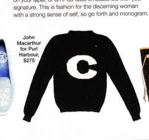 Initial sweaters... any initial